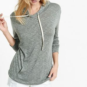 Express Marled Grey Hoodie with Pockets